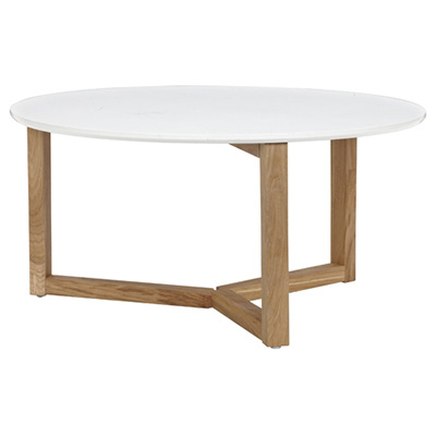 Round Oak Coffee Table White Color Qound Coffee Table Round Oak Coffee Table Large (Image 7 of 10)