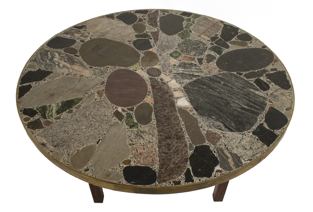 Round Stone Top Coffee Table At Your Home Decoration Detail View (Image 5 of 10)