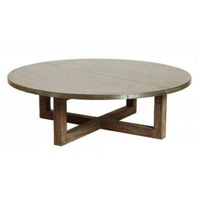 Round Table Coffee Argo Zinc Top Round Coffee Table Argo Zinc Top Round Coffee Table (View 8 of 10)