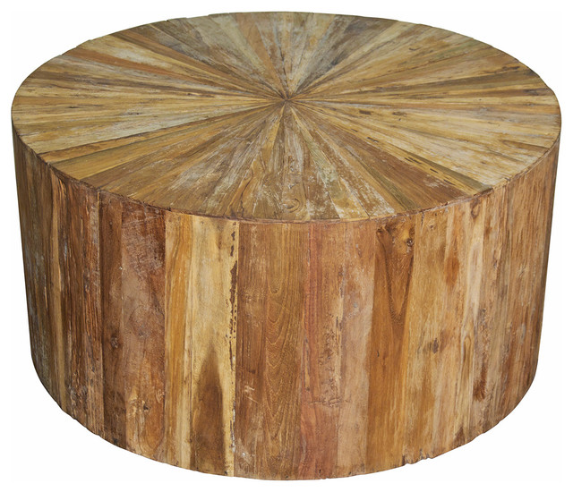 Round Trunk Coffee Table Rustic Coffee Tables (Image 9 of 10)