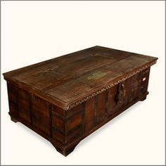 Rustic Chest Coffee Table Rustic Reclaimed Wood Traveling Caravan Storage Trunk Chest (Image 6 of 10)