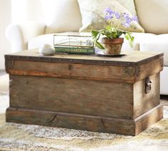 Rustic Chest Coffee Table Box Coffee Table Furnish Classic (Image 4 of 10)