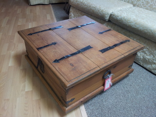 Rustic-Coffee-Table-Scottsdale-Rustic-Coffee-Table-With-Storage-square-shape-table (Image 5 of 10)