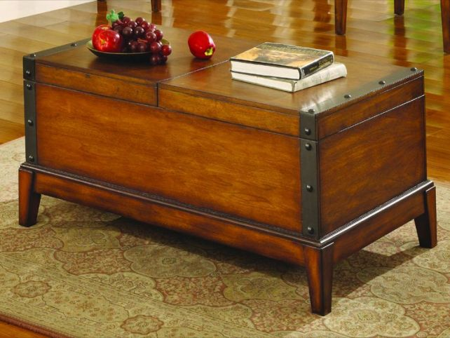 Rustic Coffee Tables With Storage Vintage Furniture Fascinating (View 8 of 10)