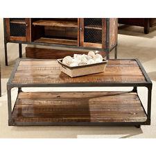 Rustic Industrial Urban Reclaimed Wood Metal Modern Coffee Table Shelf New (Image 7 of 10)