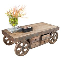 Rustic-Mumford-Coffee-Table-Rustic-Coffee-Tables-With-Wheels-square-shape-wood-furnish-cool-furniture-ideas (Image 9 of 9)