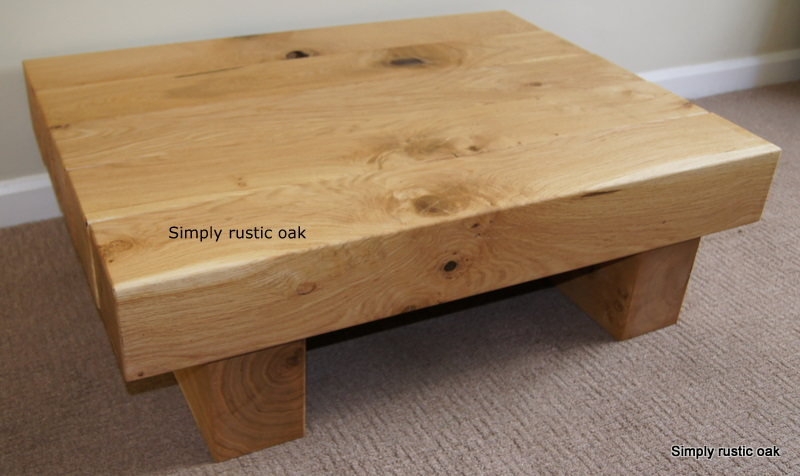 Rustic Oak 5 Beam Mini Coffee Table Rustic Oak Coffee Tables 2016 Free Download Ideas (Image 6 of 10)
