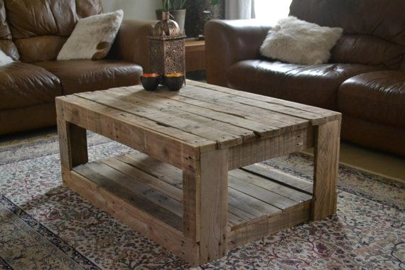 Rustic Pallet Coffee Table Unique Rustic Coffee Tables On Livingroom With Unique Rug On Base (Image 8 of 8)