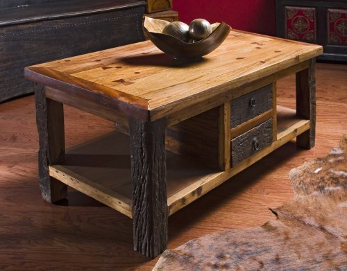 Rustic Wood Coffee Table With Drawers Rustic Wooden Coffee Table (View 7 of 10)