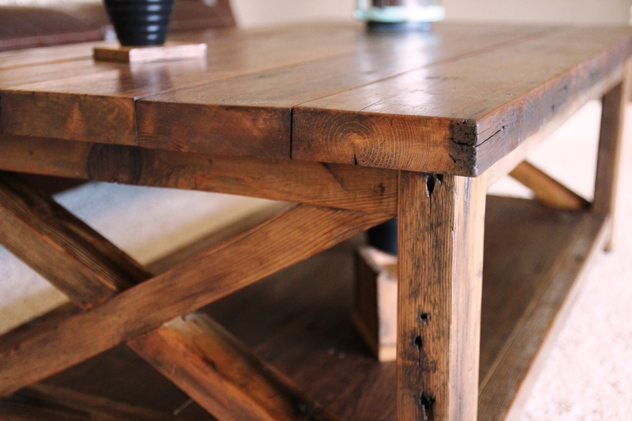 Rustic-X-Coffee-Table-rustic-coffee-tables-free-download-wood-square-shape-2 (Image 9 of 10)