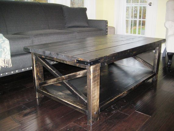 10 Best Collection Of Rustic Black Coffee Table View