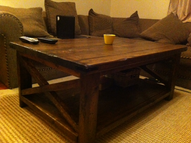 Rustic X Coffee Table Do It Yourself Photo Images Of Coffee Table Square Shape (View 8 of 10)