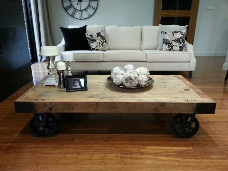 Rustic-coffee-table-with-wheels-on-livingroom-home-world-display-sydney-Coffe-Tables-Rustic-Coffee-Table-On-Wheels (Image 6 of 10)