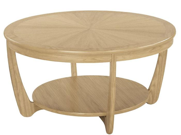Shades Sunburst Top Round Coffee Table In Oak Round Oak Coffee Table (Image 8 of 10)