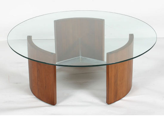 Popular Photo of Simple Coffee Table Wood Glass
