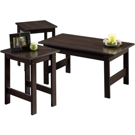 Small Coffee Table Sets Sauder Beginnings 3 Pack Table Set Multiple Colors (Image 9 of 10)