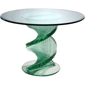 Spiral Glass Coffee Table Also Glass Material Increases The Space Of All Rooms (View 2 of 10)