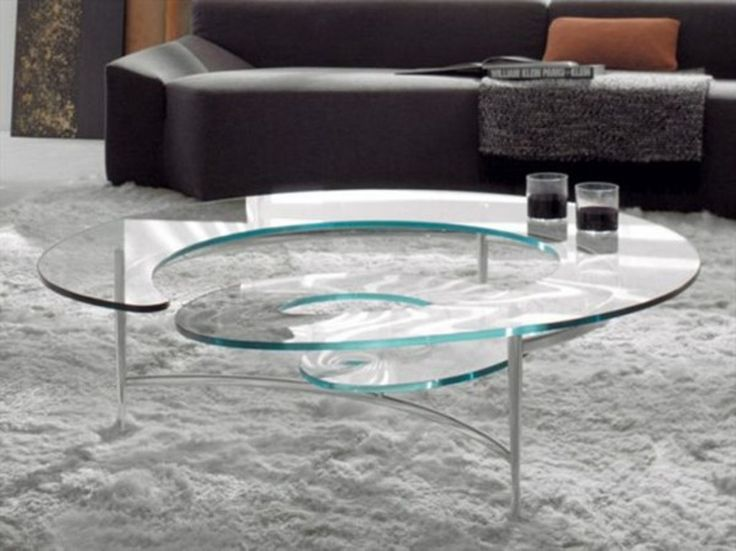Spiral Glass Coffee Table Legs Made The Table Stylish Enough To Be In Your Contemporary Home Office Or Business Establishment (View 6 of 10)