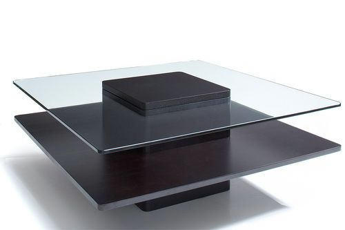 Square Wood And Glass Coffee Table Drawer Wood Storage Accent Side Table Too Much Brown Furniture A National Epidemic (Image 4 of 9)
