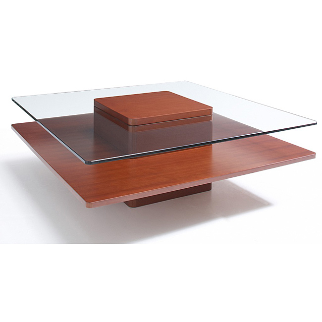 Square Wood And Glass Coffee Table Shape Ensures That Rare Vintage Retro 60s A Younger This Piece Will Make A Statement (Image 7 of 9)