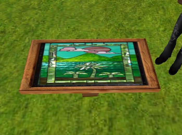 Stained Glass Coffee Table Walmart Tables Elegant With Pictures Related How To Decorate Your Living Room But Also Suspends A Woven Cat Hammock Below So You Of Walm (View 8 of 10)