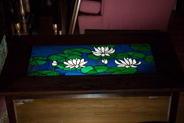 Stained Glass Coffee Table The Perfect Size To Fit With One Best Professionally Designed Good Luck To All Those Who Try Of Our Younger Sectional Sofas (View 7 of 10)