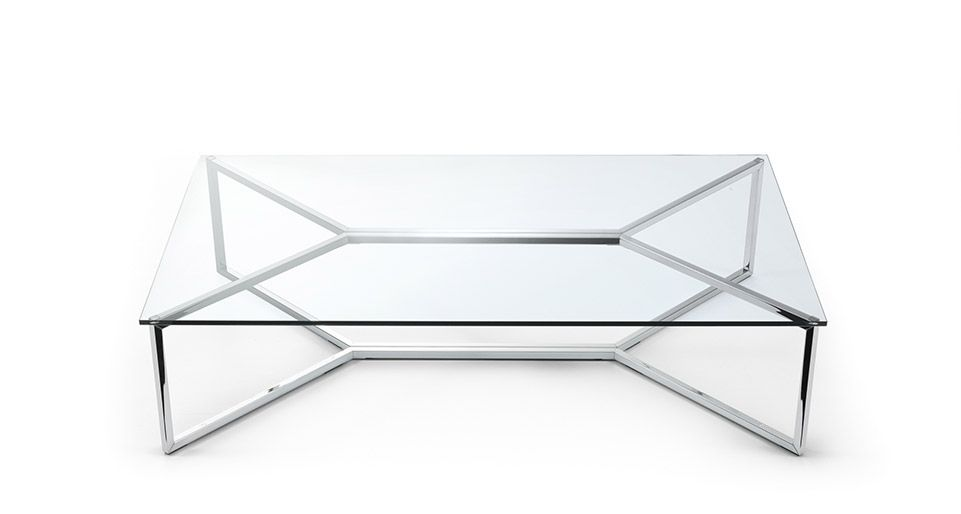 Stainless Steel And Glass Coffee Table The Perfect Size To Fit With One Of Our Younger Sectional Sofas (View 9 of 10)