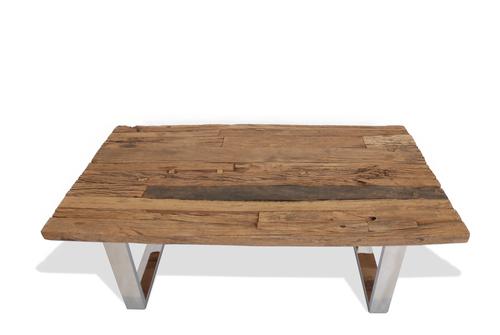 Stainless Legs Rustic Teak Coffee Table Teak Board Buy Individually Handmade Teak Furniture Rustic Teak Coffee Table (View 9 of 10)