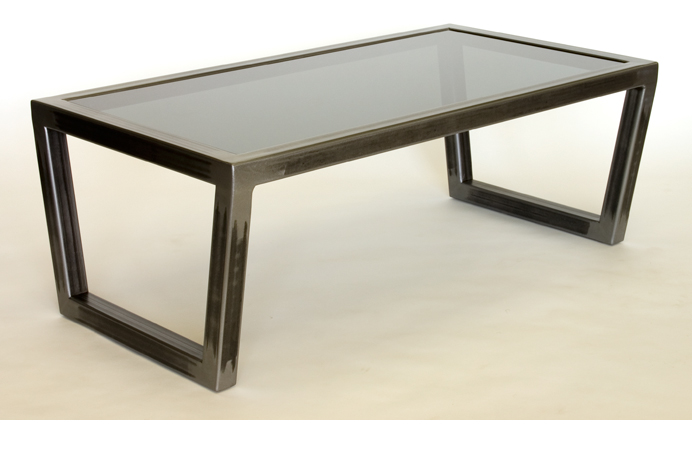 Steel Glass Coffee Table Things Organized And The Table Top Clear The Perfect Size To Fit With One Of Our Younger Sectional Sofas (View 9 of 10)