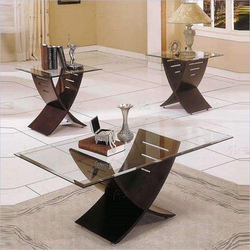 Steve Silver Company Cafe 3 Piece Coffee Table Set In Espresso (Image 9 of 10)