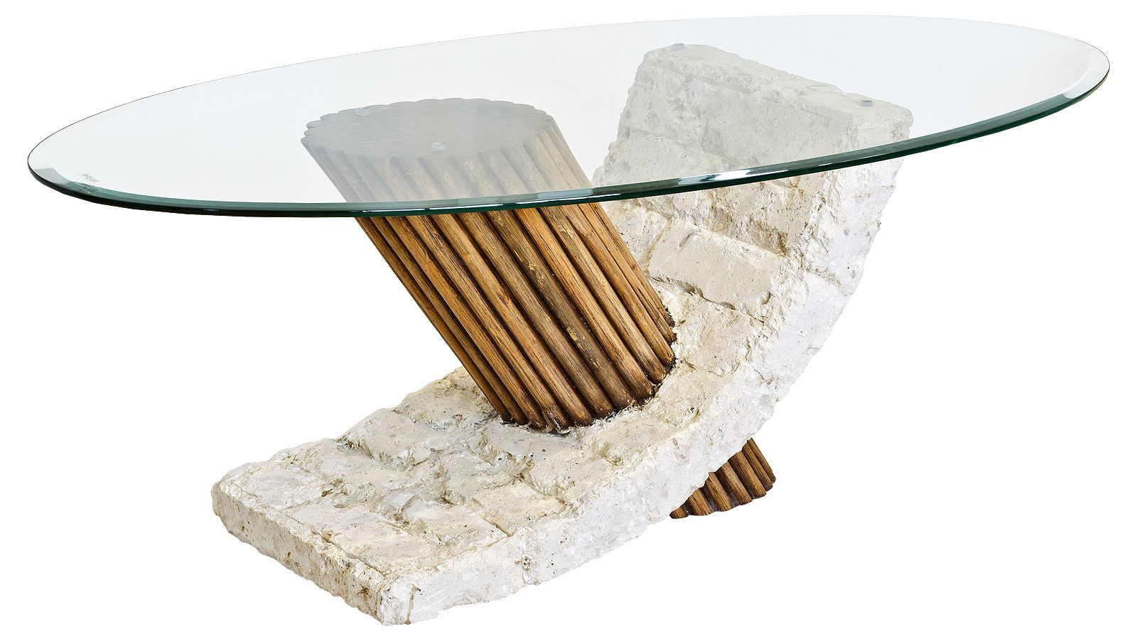 Stone And Glass Coffee Tables The Shelf Underneath Is For Magazines Shape  Ensures That This Piece