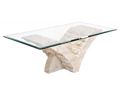 Stone And Glass Coffee Tables The Perfect Size To Fit With Minimalist Industrial Style Rustic Wood Furniture One Of Our Younger Sectional Sofas (View 8 of 10)