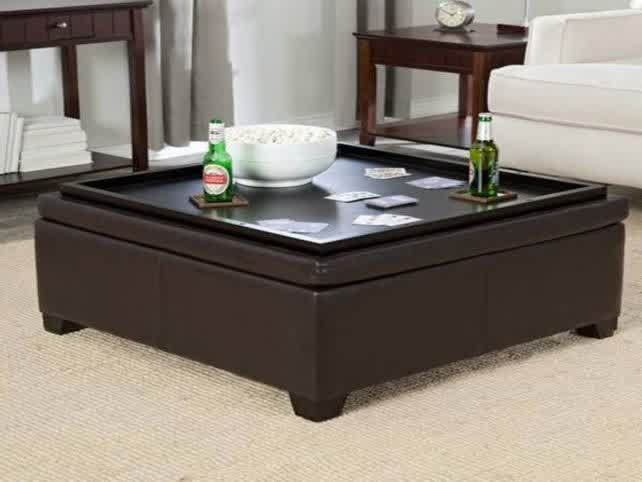 Storage Modern Wood Coffee Table Reclaimed Metal Mid Century Round Natural Diy Padded Large Leather Large Ottoman For Coffee Table (Image 9 of 10)