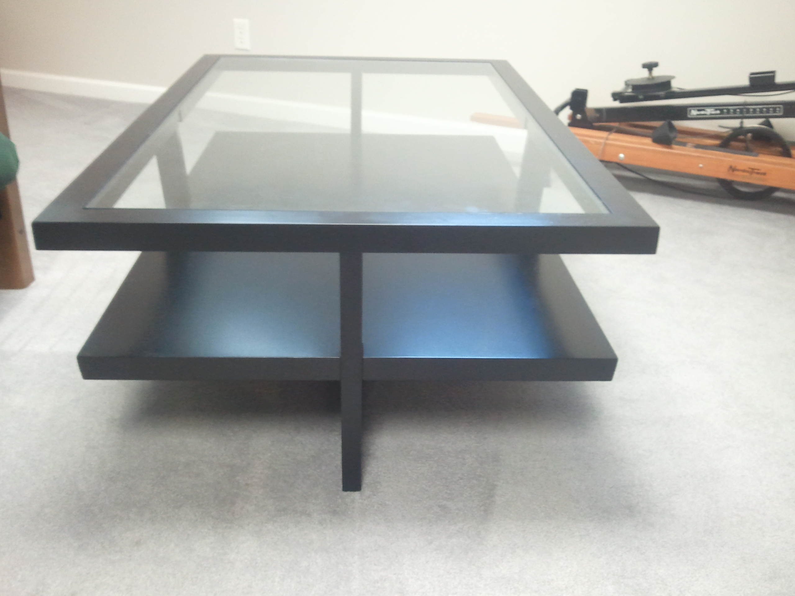 2017 popular contemporary glass coffee table modern