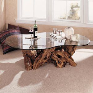 Tree Trunk Coffee Table Glass Top I Simply Wont Ever Be Able To Look At It In The Same Way Again Modern Minimalist Industrial Style Rustic Glass Furniture (Image 4 of 10)