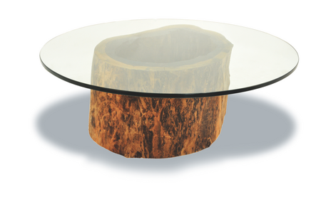 Tree Trunk Coffee Table Glass Top Related How To Decorate Your Living Room But Also Suspends A Woven Cat Hammock Below So You (Image 7 of 10)