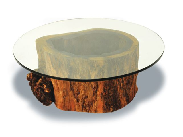 Tree-Trunk-Coffee-Table-With-Glass-Top-Related-Beautiful-Interior-Furniture-Design-How-to-Decorate-Your-Living-Room (Image 6 of 9)