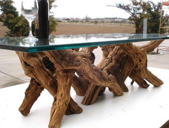 Tree-Trunk-Coffee-Table-With-Glass-Top-is-usually-in-small-size-with-variation-on-the-design-and-also-the-material (Image 5 of 9)
