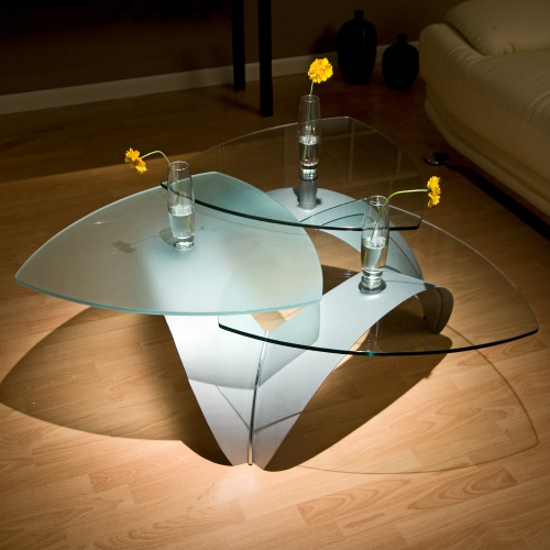 Triangular Glass Coffee Table You Could Sit Down And Relax On The Sofa With Your Cup Of Nescafe At This Table Rustic Meets Elegant In This Spherical (View 9 of 10)