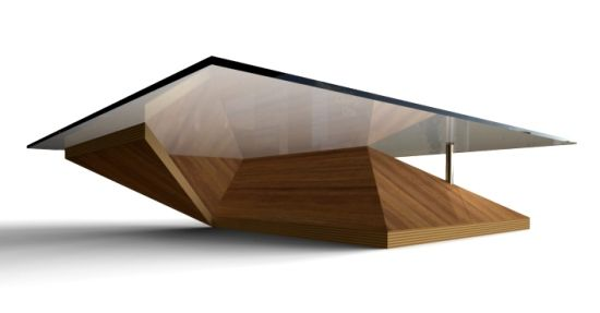 Triangular Glass Coffee Table Shape Ensures That This Piece Will Make A Statement Is Usually In Small Size With Variation On The Design And Also The Material (View 5 of 10)