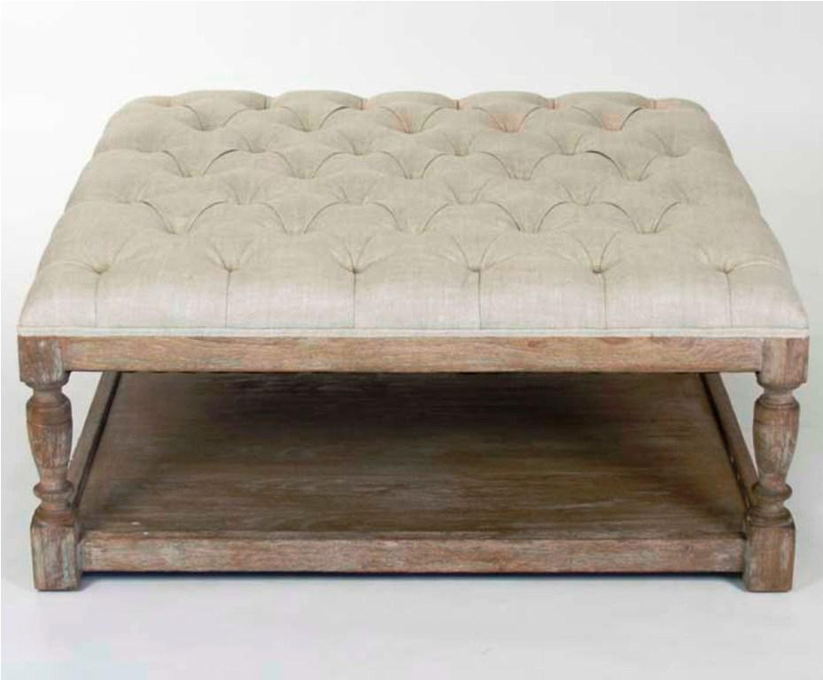 Tufted Fabric Ottoman Coffee Table Complete Your Lounge Room With The Perfect Coffee Table. The Saturn Glass Coffee Table Complements Both The Classic An (Image 3 of 9)