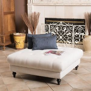 Tufted Fabric Ottoman Coffee Table Legs Made The Table Stylish Enough To Be In Your Contemporary Home Office Or Business Establishment (Image 6 of 9)
