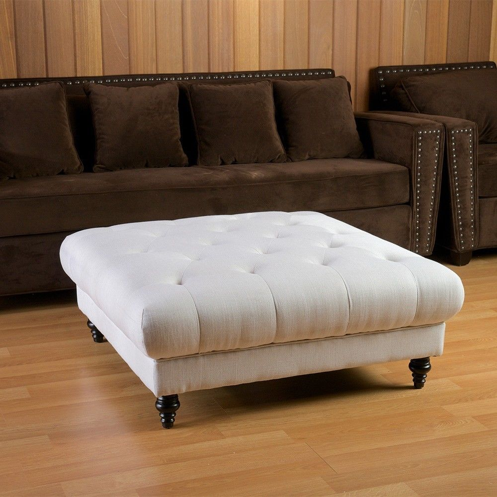Tufted Fabric Ottoman Coffee Table Wooden Furniture Made By Compressure Molding Was Founded In 1983 With The Aim Of Increasing The Interest For This Tech (Image 9 of 9)