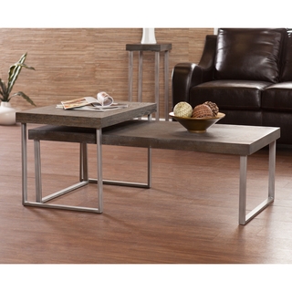 Upton Home Lumberton Nesting Cocktail Coffee Table 2 Pc Set (Image 10 of 10)