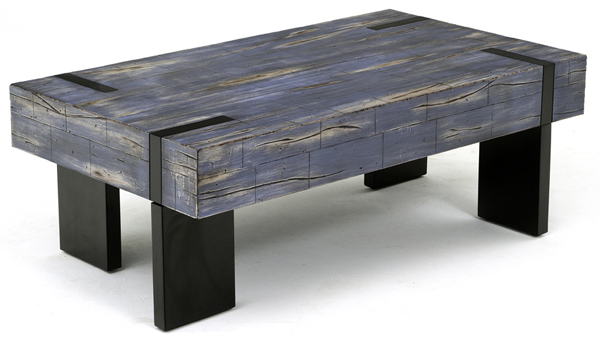 Urban Coffee Table Blue Rustic Meets Modern Coffee Table Rustic Modern Coffee Table (View 9 of 10)