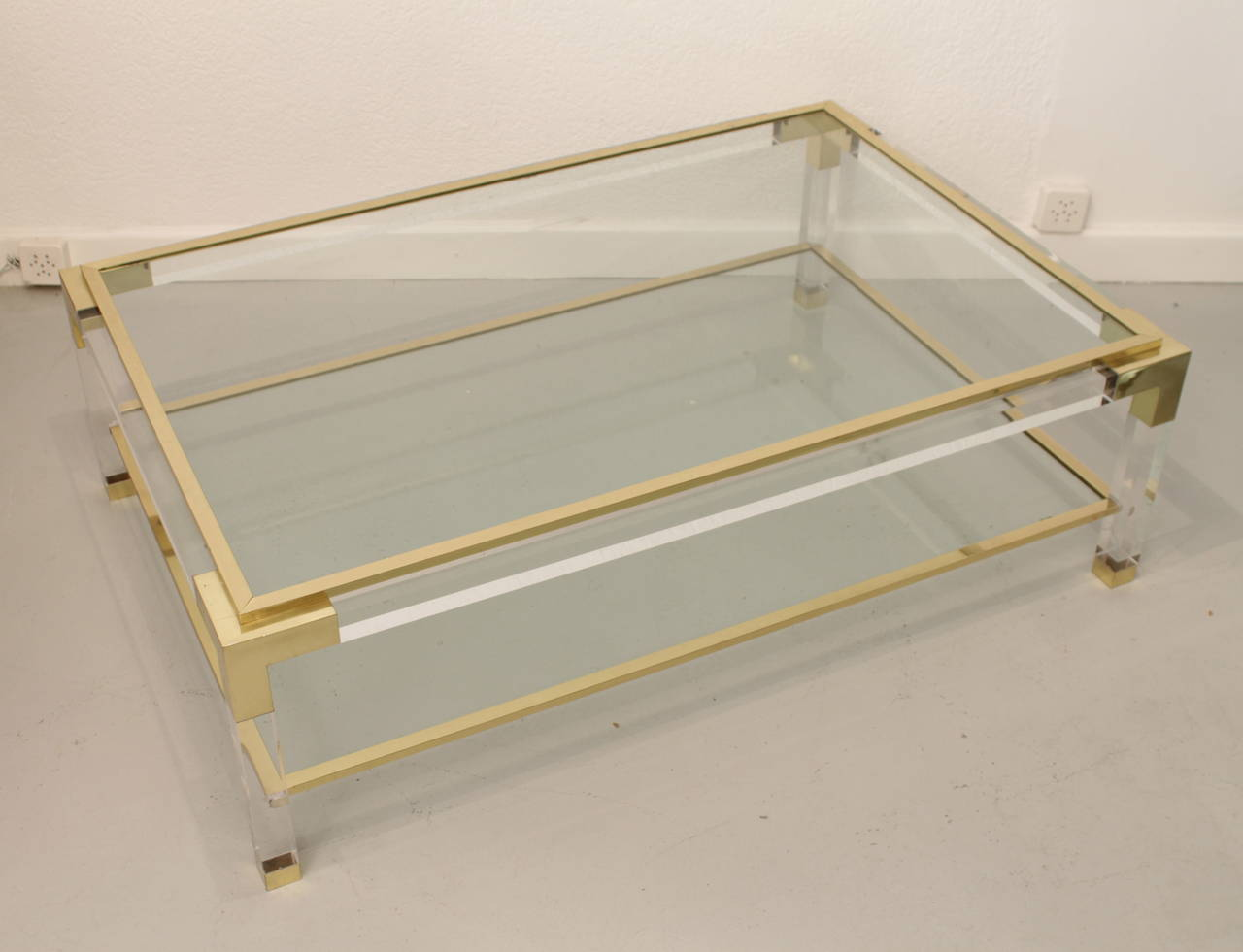 Vintage Glass Coffee Table Available Also In Painted Glass As Per Samples In The Bright Or Mat Version (Image 2 of 10)