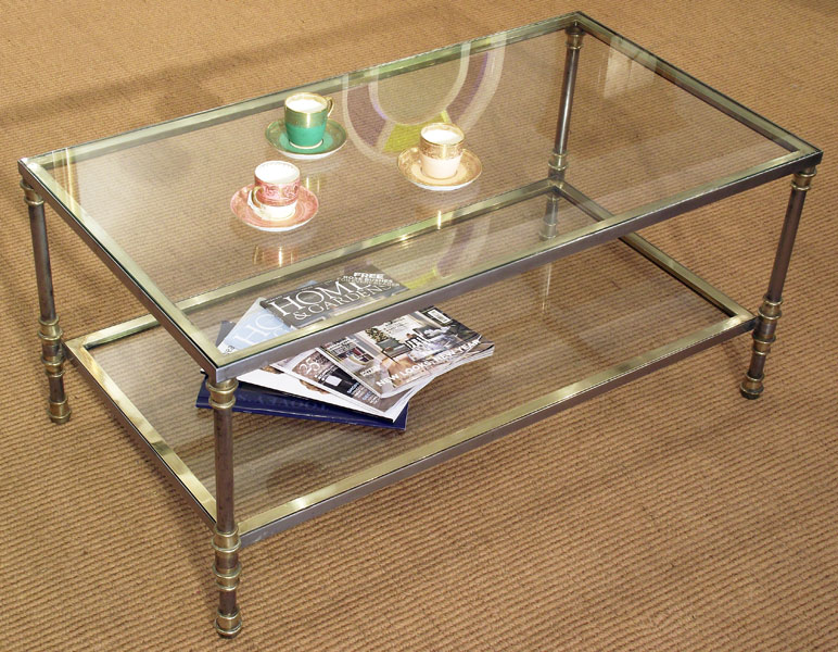 Vintage Glass Coffee Table You Keep Your Things Organized And The Table Top Clear Best Professionally Designed Good Luck To All Those Who Try (Image 10 of 10)