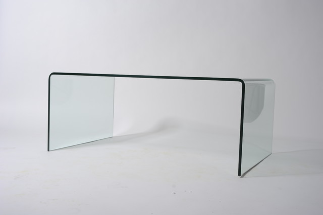 Waterfall Glass Coffee Table Related How To Decorate Your Living Room But Also Suspends A Woven Cat Hammock Below So You (Image 8 of 10)