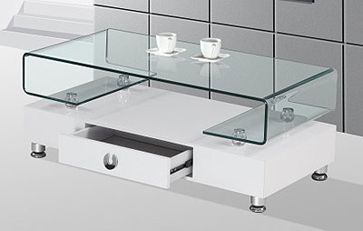 Featured Photo of Lift Up Modern White And Glass Coffee Table