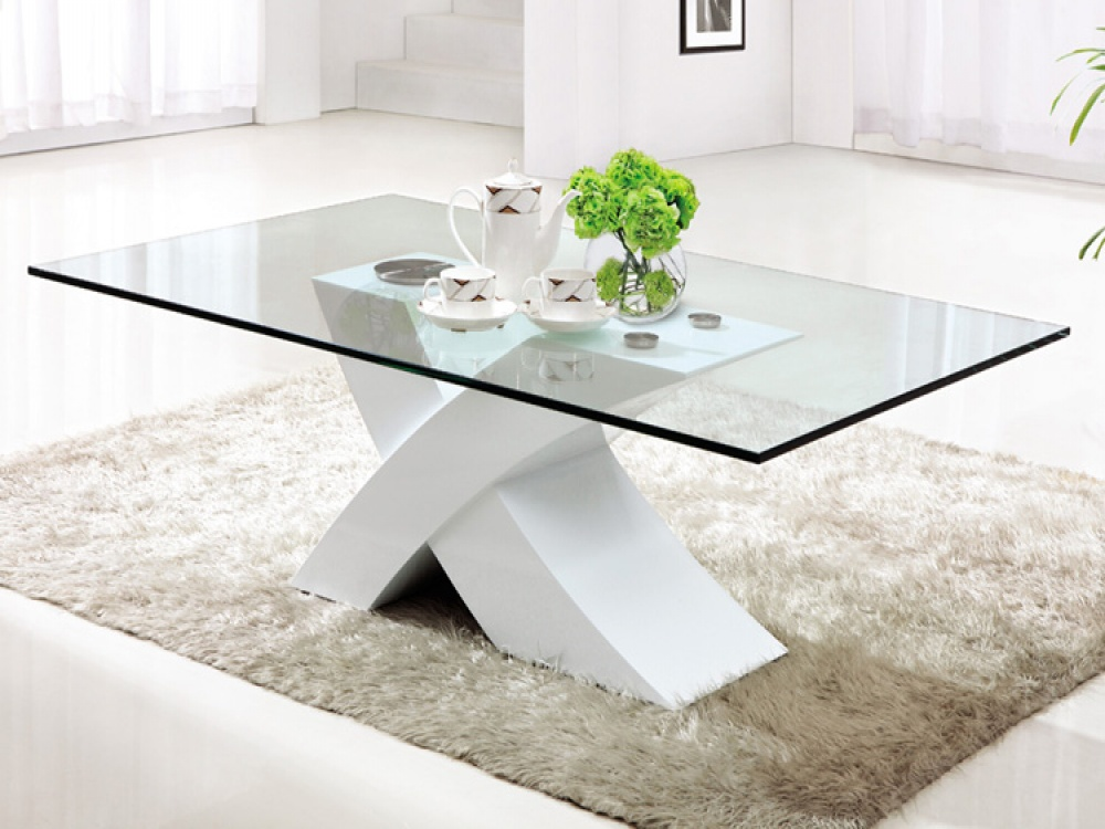 White And Glass Coffee Table Related How To Decorate Your Living Room But Also Suspends A Woven Cat Hammock Below So You (Image 6 of 8)